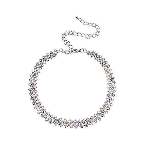 Necklace Choker Diamonds Crystals Adjustable Fancy Women's Luxury Bling - By SIEVERJEWELS