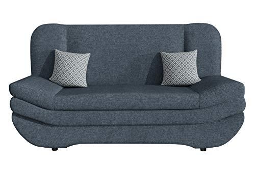 Mirjan24 Sofa Weronika mit Bettkasten und Schlaffunktion, Schlafsofa, Große Farb- und Materialauswahl, Couch vom Hersteller, Wohnlandschaft (Lux 33 + Lux 33 + Evo 33.)