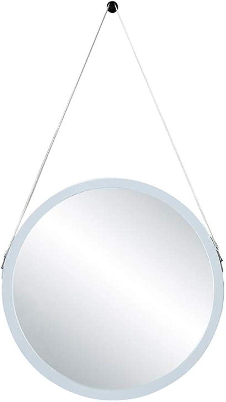 Wall-Mounted Round Mirror Bathroom Vanity Mirror Decorative Hanging Mirror White (Size   30CM)