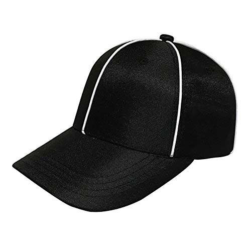 ChinFun Official Referee Hat Adjustable Ball Cap Black with White Stripes for Football Refs Umpires Judges Linesman Uniforms
