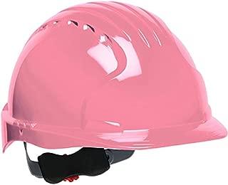 Safety Works Pro Hard Hat, Pink, 6-Point Wheel Ratchet Suspension