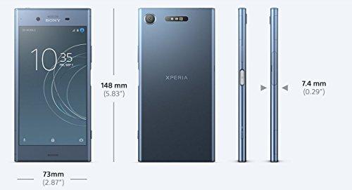Sony Xperia XZ1 Smartphone (13,2 cm (5,2 Zoll) Triluminos Display, 19MP Kamera, 64GB Speicher, Android) Schwarz - Deutsche Version