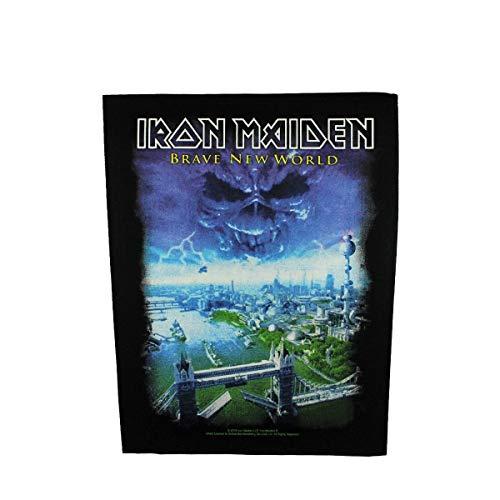 Unbekannt Iron Maiden RÜCKENAUFNÄHER/BACKPATCH # 22 Brave New World - 36x29cm