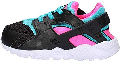 Nike Toddlers Huarache Run Running Shoes Black/Met Gold/White 6