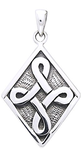 Jewelry Trends Celtic Strength Knot Sterling Silver Pendant