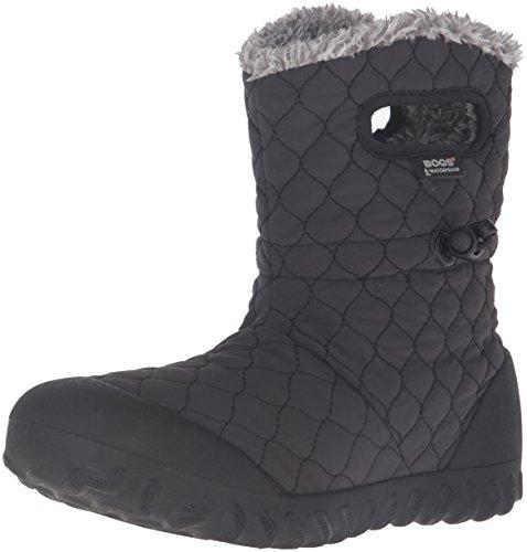 BOGS Women's B-Moc Quilt Puff Snow Boot, Black, 7 M US