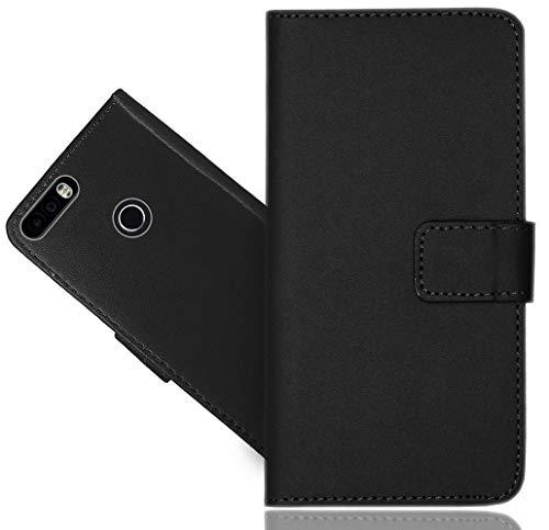 Leagoo KIICAA Power 3G Handy Tasche, FoneExpert® Schwarz Wallet Hülle Flip Cover Hüllen Etui Hülle Ledertasche Lederhülle Schutzhülle Für Leagoo KIICAA Power 3G