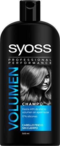 Syoss Champú para Volumen, 0% Siliconas - Pack de 3 unidades x 500ml (Total: 1500 ml)