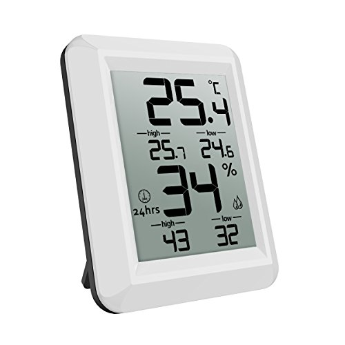 AMIR Indoor Humidity Temperature Monitor, Digital Hygrometer Humidity Meter with Temperature Humidity Gauge, for Home, Office