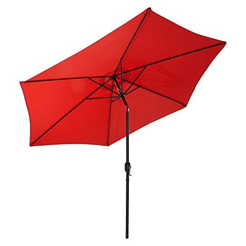Gartenfreude Sonnenschirm Marktschirm UV+50 300 cm, Rot