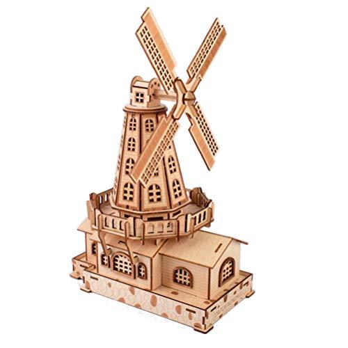 SUPVOX 3D Rompecabezas de madera Modelo de rompecabezas Montar Arquitectura Modelo de construcción Rompecabezas Juguetes Construcción Bloques de construcción para niños