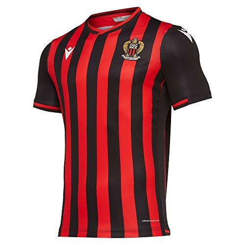 Macron OGC Nice Home Football Shirt 2019/20-X-Large