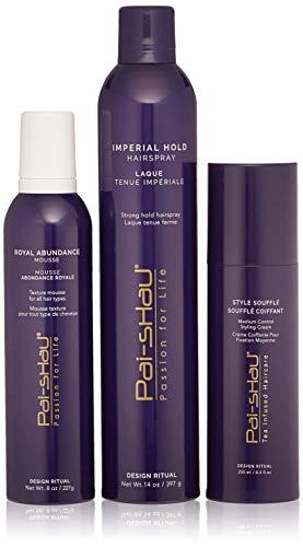 Pai-Shau Royal Abundance Mousse, Imperial Hold Hairspray, Style Souffle