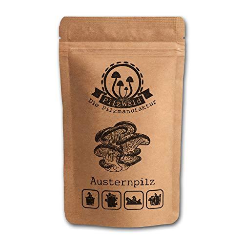 PilzWald Austernpilze züchten auf Holz, Stroh & Kaffeesatz - ausführliche Anleitung & Tutorials - Pilzzucht für Anfänger - 50 Pilzdübel Pilzbrut