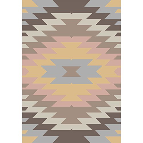 ZWL Geometry Pattern Living Room 140 * 200cm tapis de chevet Tapis de porte de Hall Chambre Living Room Canapé Table de chevet du pied Tapis antidérapant Couverture de chevet Rack de rangement .z ( Couleur : A )