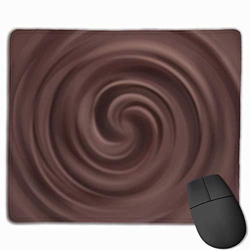 rutschfeste Mousepad Liquid Chocolate Swirl Hintergrundgeschwindigkeit Soft Gaming Mouse Mat