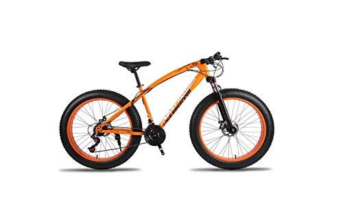 Bicicleta de Montaña Unisex Hardtail Bicicleta de Montaña 7/21/24/27 Velocidades 26 Pulgadas Fat Tire Road Bicicleta de Nieve/Bicicleta de Playa con Frenos de Disco Y Horquilla de Suspensión