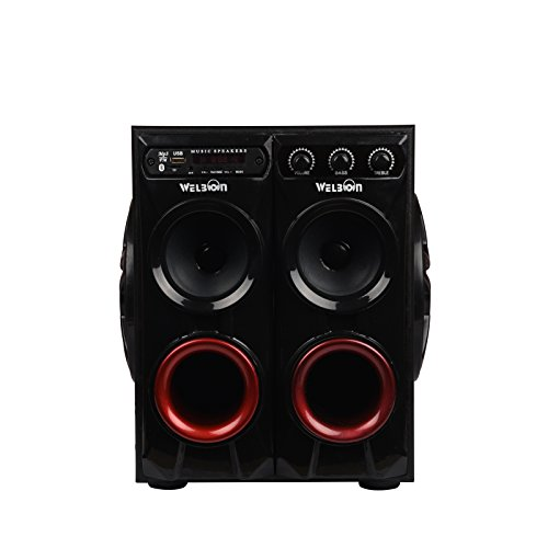 Welbon BigBoss Tower 7500W PMPO Double Woofer with FM, Bluetooth, USB and AUX