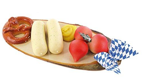 Odenwälder Marzipan Vesperbrettchen 200g mit Brezel, Radieschen, Weißwürste und Senf