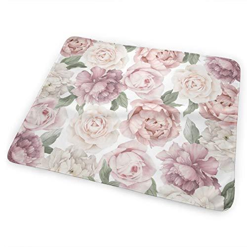 RomaniaGH Flowers Almohadilla para Cambiar pañales Impermeable para Cambiar pañales para bebés Que salen de Viaje