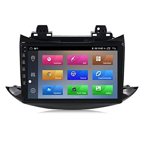 YLCCC Coche Estéreo Vehículo GPS Adecuado para Chevrolet Trax 2017 Coche Estéreo Sat Nav Capacitivo Touch HD Carplay Radio Multimedia Multimedia Radio Incorporado Tracker,8Core 4G+WiFi:2+32G
