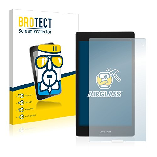 BROTECT Panzerglas Schutzfolie kompatibel mit Medion Lifetab S8312 (MD98989) - AirGlass, 9H Härte, Anti-Fingerprint, HD-Clear