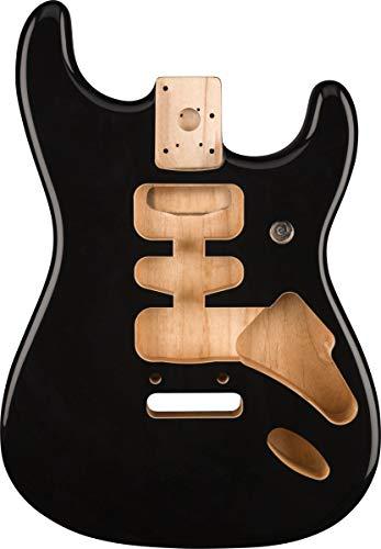 Fender Deluxe Series Stratocaster® HSH Alder Body 2 Point Bridge Mount, Black
