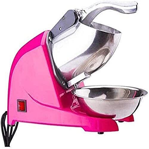 ISLUX Ice Blender Stainless Steel Commercial Ice Shaver Heavy Duty SNO Snow Cone Shaved ICEE Maker Machine High-Efficiency Crusher for Family Restaurants Bars Cafeterias Best Gift (Color : Pink)