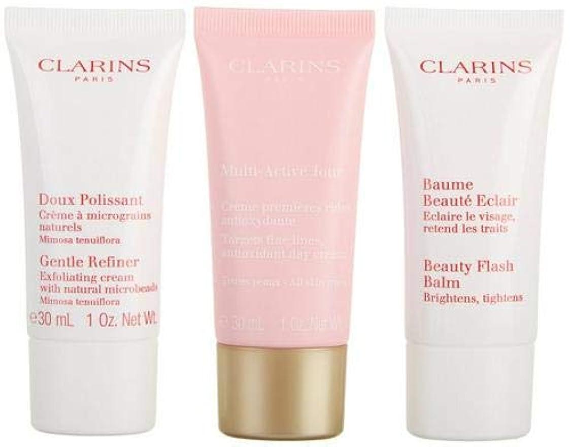ブランチ相対サイズより多いクラランス Multi-Active 30+ Anti-Ageing Skincare Set: Gentle Refiner 30ml + Multi-Active Day Cream 30ml + Beauty Flash Balm 30ml 3pcs並行輸入品