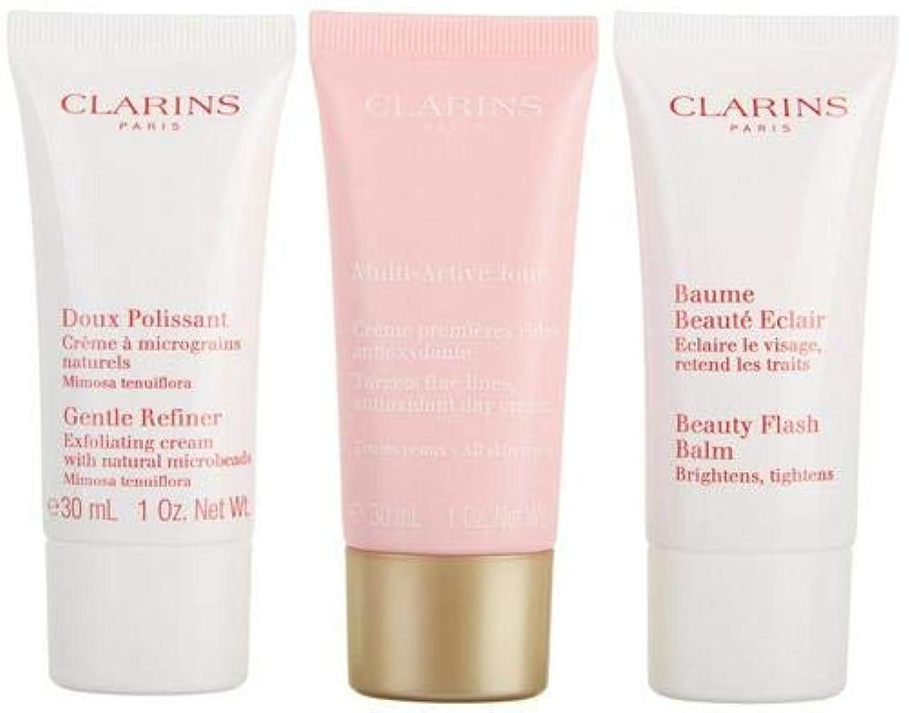 増幅するリス製造クラランス Multi-Active 30+ Anti-Ageing Skincare Set: Gentle Refiner 30ml + Multi-Active Day Cream 30ml + Beauty Flash Balm 30ml 3pcs並行輸入品