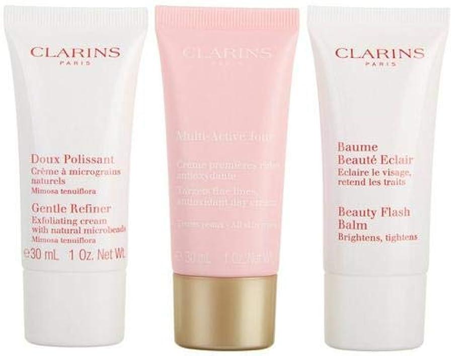 縮約デンマーク仮定するクラランス Multi-Active 30+ Anti-Ageing Skincare Set: Gentle Refiner 30ml + Multi-Active Day Cream 30ml + Beauty Flash Balm 30ml 3pcs並行輸入品