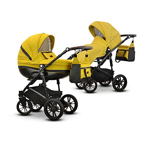 Friedrich Hugo Savior | 2-in-1 combi kinderwagen Gel mosterd