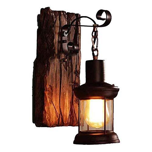American Rural Style Wandleuchte Schlafzimmer Nachttisch Kreativität Persönlichkeit Vintage Industrial Wind Gangschiff LOFT Schiff Holz Wandleuchte Wandleuchte Wand Laterne