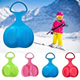 Snow sled for Kids and Adults, Snow Sled Board, Outdoor Winter Plastic Snow Sled Board, Downhill Sleds - Skiing Boards Snow Grass Sand Board, Portable Kids Adult Snow Sled Sleigh Slider (Green)
