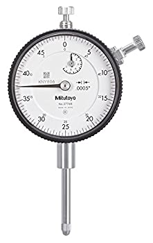 Mitutoyo 2776S Dial Indicator #4-48 UNF Thread 3/8  Stem Dia Lug Back White Dial 0-50 Reading 57mm Dial Dia 0-1  Range 0.0005  Graduations +/-0.002  Accuracy