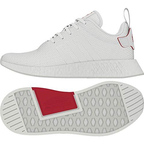 Adidas NMD_R2 CNY, Zapatillas de Deporte para Hombre, Blanco (Ftwbla/Ftwbla/Escarl 000), 48 2/3 EU