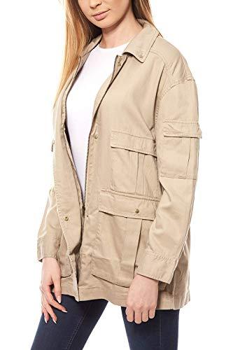 Heine - Best Connections Safari-Style-Jacke beige Größe 42