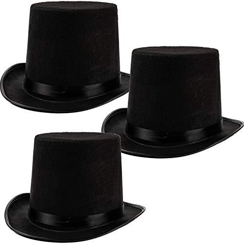 3 Pcs Sombreros Negros para Disfraz de Halloween, Accesorios para Fiestas Cosplay