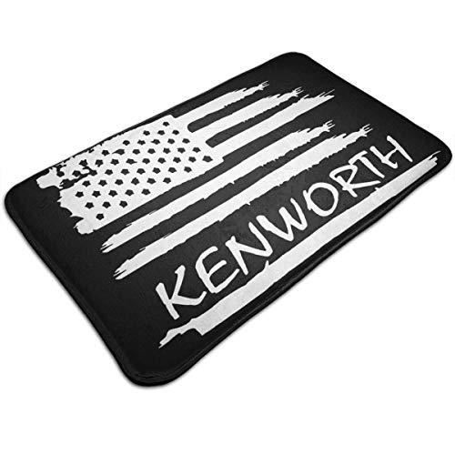 shenhaimojing Kenworth - Felpudo antideslizante para entrada (40 x 60 cm), diseño de la bandera estadounidense