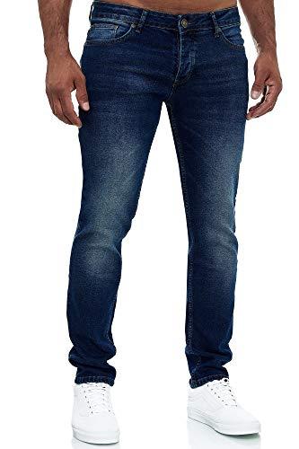 MERISH Jeans Herren Slim Fit Jeanshose Stretch Designer Hose Denim 502 (36-34, 502-4 Dunkelblau)