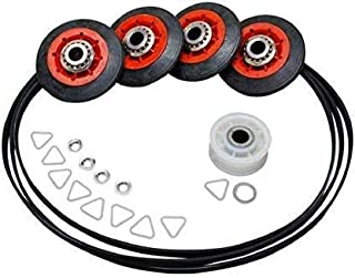 Compatible Belt Rollers Repair Kit for Maytag MEDB400VQ0 Maytag MGD9700SQ0 Maytag MEDX500XW0 Whirlpool WED5500XW0 Dryers