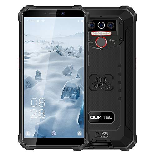 Oukitel WP5 Unlocked Rugged Smartphone - 8000mAh Battery IP68 Waterproof Android 10 Unlocked Cell Phones 4G LTE Dual SIM, 5.5inches 4GB 32GB Triple Camera Face/Fingerprint Unlock (Black)