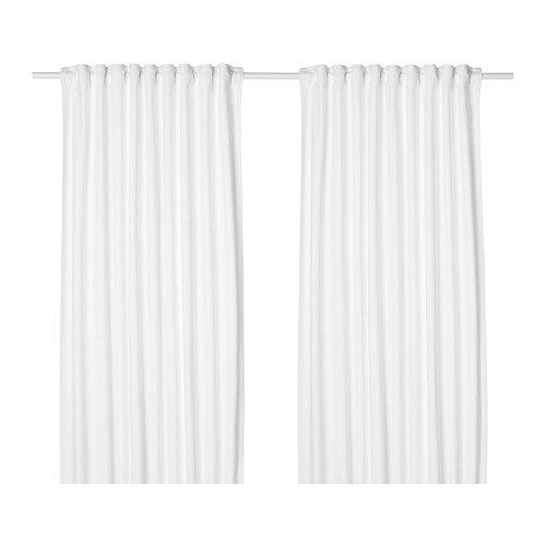 IKEA Tibast Curtains 1 Pair White 503.967.58 Size 57x98