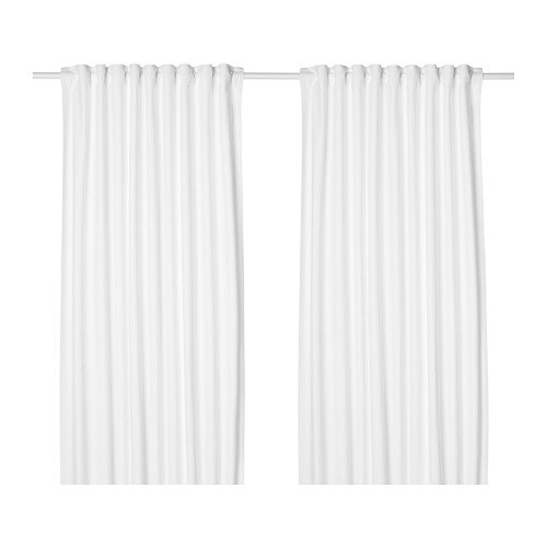 Unbekannt IKEA TIBAST Gardinenpaar in weiß; 100% Baumwolle; (145x300cm)