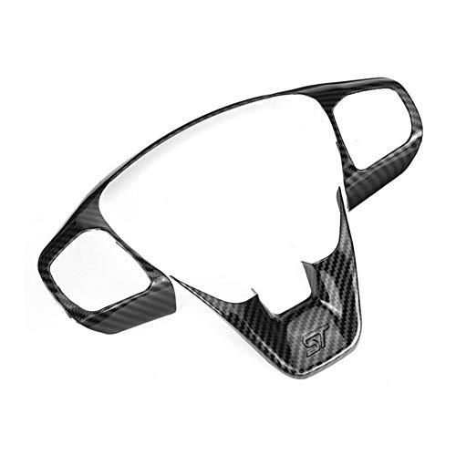 Furong 1 Set ABS Fibra del Carbonio dell'automobile Steering Wheel Button Controllo ottimizzazione della Copertura della Pagina Accessori for Ford Fiesta ST MK8 2017 2018 2019 (Color Name : Black)