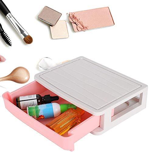Cajón de una sola capa, joyería, tocador de cosméticos Organizador de almacenamiento de escritorio Maquillaje Organizador para Cosméticos Cuidado del cabello Cuarto de baño Disparador de dormitorio (1