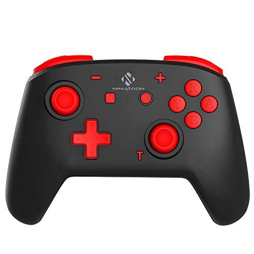 momen Wireless Controller für Nintendo Switch Bluetooth drahtlos Pro Controller für Switch Lite Doppelmotor Controller mit Einstellbarer Vibration Turbo Funktion Remote Gamepad mit 6-Achsen Gyroskop