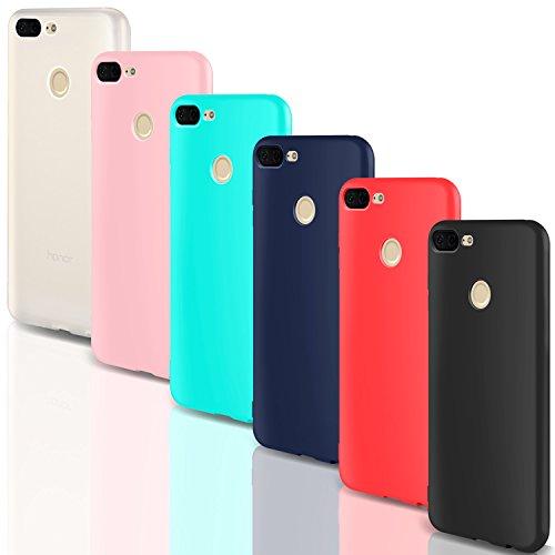 "Leathlux Coque Huawei Honor 9 Lite Étui Silicone [Ultra Mince] Souple TPU Housse Protection Doux Gel Skin Coque pour Huawei Honor 9 Lite/Honor 9 Youth Edition - 5.65"" (Multi-Coloured-3)"