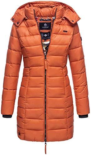 Marikoo Herbst Winter Übergangs Steppmantel Jacke Mantel gesteppt B603 (Gr.L/Gr.40, Rost)