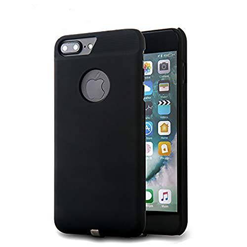 Receptor de carga inalámbrico para iPhone 7 Plus/6s Plus/6 Plus, receptor de cargador de inducción, tecnología Qi Wireless Charging Case Flexible Connector, Negro (5,5 pulgadas).